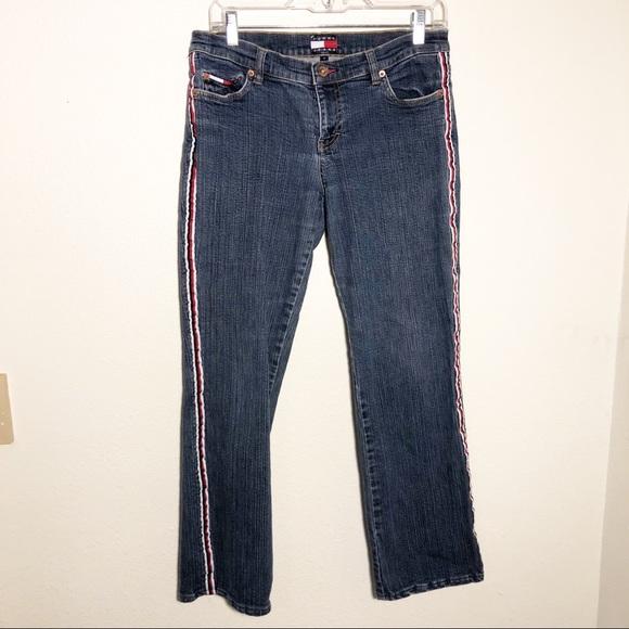 353f113ec Tommy Hilfiger Jeans   Vintage Side Stripe Spell Out Logo   Poshmark